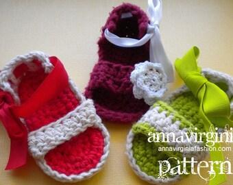 CROCHET PATTERN Baby Girl Sandals - PDF Crochet Pattern