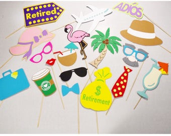 Retirement party props , going awag party props ,retirement photobooth props, relaxation vacation props