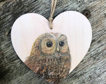 Owl Wooden Hanging decoration