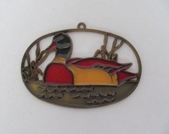 Sun Catcher - window Catcher - Duck - Mallard - Vintage collectable