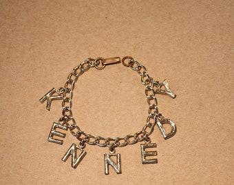 1960 Kennedy Campaign Charm Bracelet / President Kennedy JFK 1960 Charm Bracelet ORIGINAL