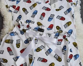 Nerd Pajama Set - Cute and Sexy pajamas - Sizes S, M,L