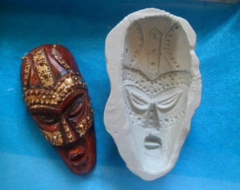 masque africain fimo
