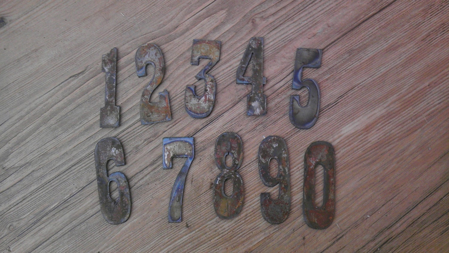 Old Metal Letters Adorable 3 Inch Letters Numbers Per Number Rusty Vintage Western Style Design Inspiration