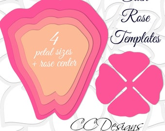 giant paper rose templates easy printable pdf rose template diy rose patterns and tutorials