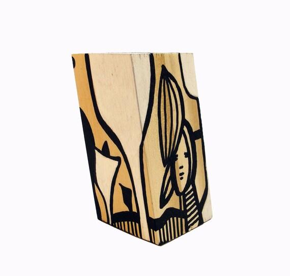 Funk Totem Part No. 230 - Original Mixed Media Block - Vol. 12