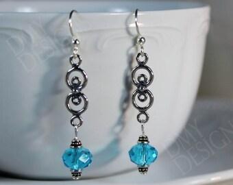 Blue Circles Earrings