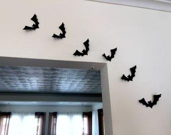 Halloween Wall Decorations / Paper Bats / Halloween Wall Decorations /  Paper Bats / Halloween Party