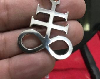 Alchemical Cross in Silver