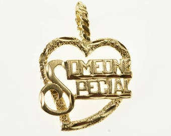 14k Someone Special Sweetheart Heart Pendant Gold