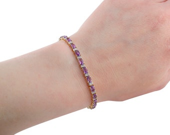 Lovely Lilac Amethyst & Diamond Bracelet
