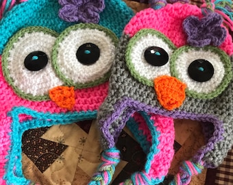 Owl Crochet Hats