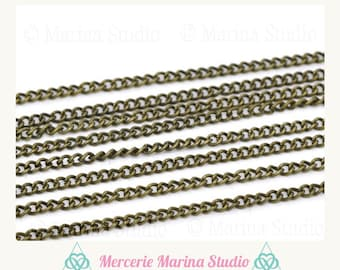 10 m chain bronze mesh horse 3 x 2, 2mm