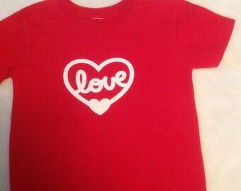 Valentine, love, red, t-shirt