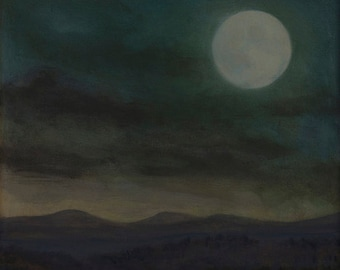Vernal Grace at Moonset, giclee print by Cynthia Woehrle