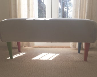 Contemporary handmade footstool
