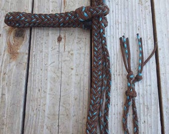 Thick brown and purple headstall