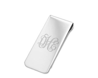 925 Sterling Silver Money Clip - Personalized Money Clip - Father's Day Gift -  Grandpa - Grandfather - Groomsmen - Engraved Money Clip