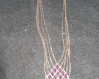 Multi Strand Sterling Necklace(704)