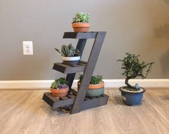 Hand Made Three Tiered Plant Stand