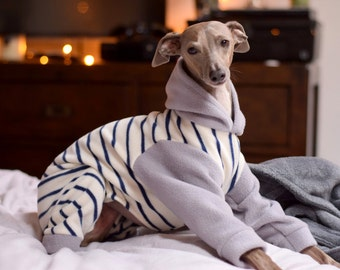 Various Patterned Fleece Onesies for Italian Greyhounds