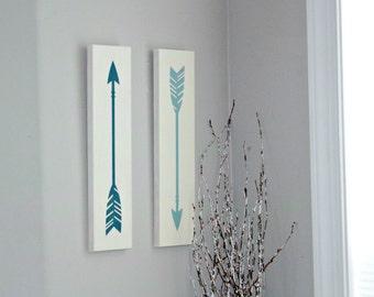 Set of 2 Arrows Signs - Arrow Decor - Nursery Decor - Nursery Decoration - Painted Arrow Sign - Rustic Arrow Decor - Rustic Nursery Sign
