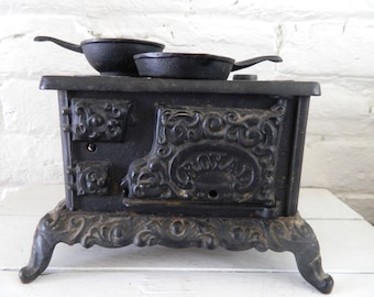 Vintage Miniature Cast Iron Stove Royal