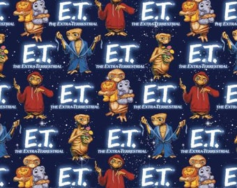 E.T. with animals Cotton Woven by Springs Creative