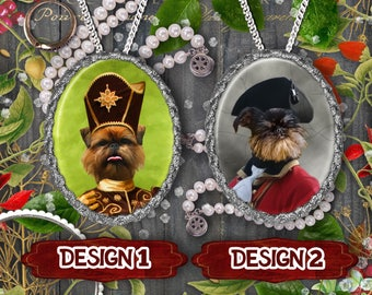 Brussels Griffon Jewelry Griffon Bruxellois Brussels Funny Griffon Dog Jewelry Handmade Pendant Custom Dog Jewelry Brussels Griffon Pendant