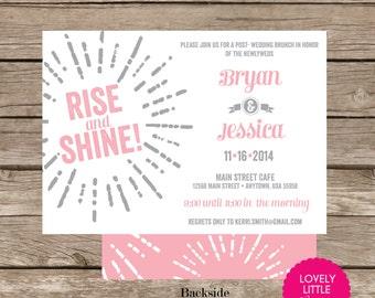Starburst Post Wedding Brunch/Breakfast Invitation DIY Printable -  Lovely Little Party