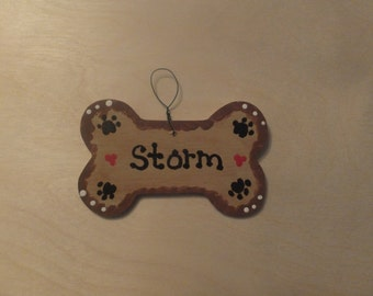 Dog Bone Christmas Ornament - Personalized