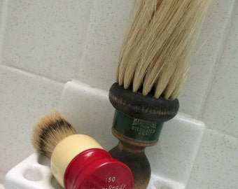 Vintage Shaving Brush and Barber Flick Brush, Mens Grooming Accessories, Gifts for Men
