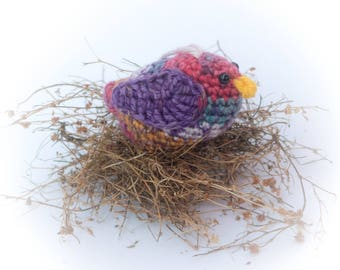 Bright Bird Amigurumi Multi Colored