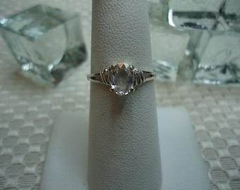 Oval Cut Lavendar Pink Ceylon Sapphire Ring in Sterling Silver  #1917