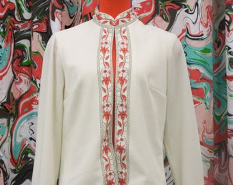1960's cream Alfred Shaheen jacket