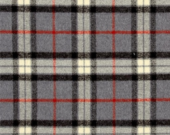 Changing Pad Cover - Deluxe Gray Plaid and Minky Contour Changing Pad Cover