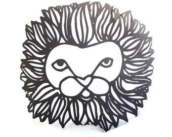 Pillow Plushie Lion- Decorative Pillow- Lion Plushie- Throw Pillow - Nursery Decor - Lion Pillow - Monochrome Lion Plushie - Plush Lion