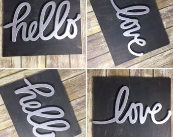 Hello / Love Home Decor Signs