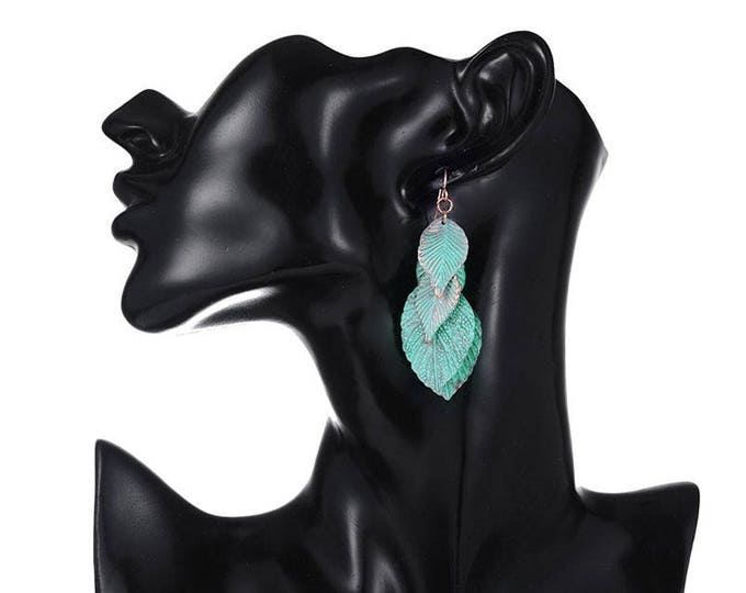 Stylish and Arty Leaves Dangle Earrings Jewelry