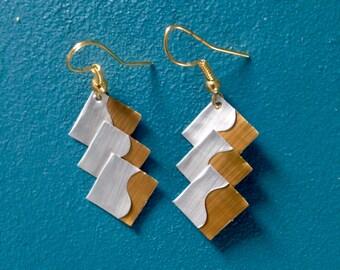 Nespresso 3 square macaroons earrings