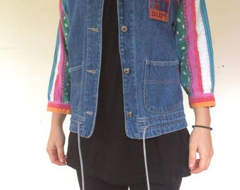 Denim Shirt Jacket 3/4 Sleeves