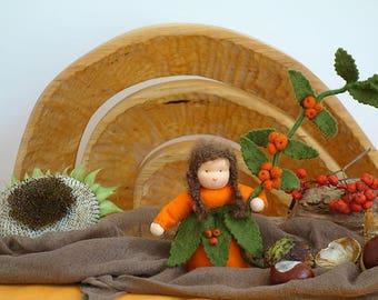 Flower child  - Waldorf  - Nature table -  Waldorf gift - Handmade - Wool felt - Eco friendly - Home decoration -