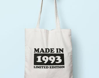 Made In 1993 Limited Edition Tote Bag Long Handles TB1756