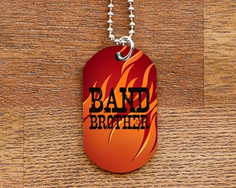 Band Brother Dog Tag Necklace for Band Geek Siblings