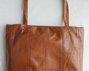 Brown Leather Tote Bag, Leather Tote Bag, Leather Bag