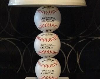 Baseball lamp with home plate base