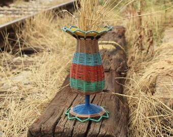 Vintage Decor - Housewarming Gift - Wire Vase - Wire Frame Vase - Metal Wire Basket - Wire Vase - Vintage Wire Vase Basket - Wire Vase