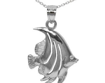 925 Sterling Silver Angel Fish Necklace