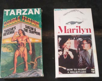 How To Marry a Millionaire & Tarzan Vintage VHS Tapes