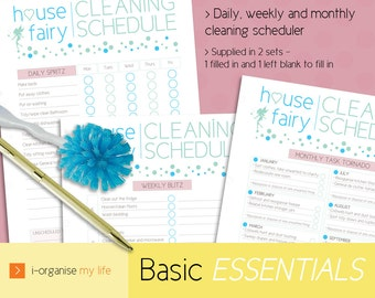 CLEANING PLANNER, cleaning schedule, household planner, housework planner, cleaning planner, house planner, daily planner, downloadable
